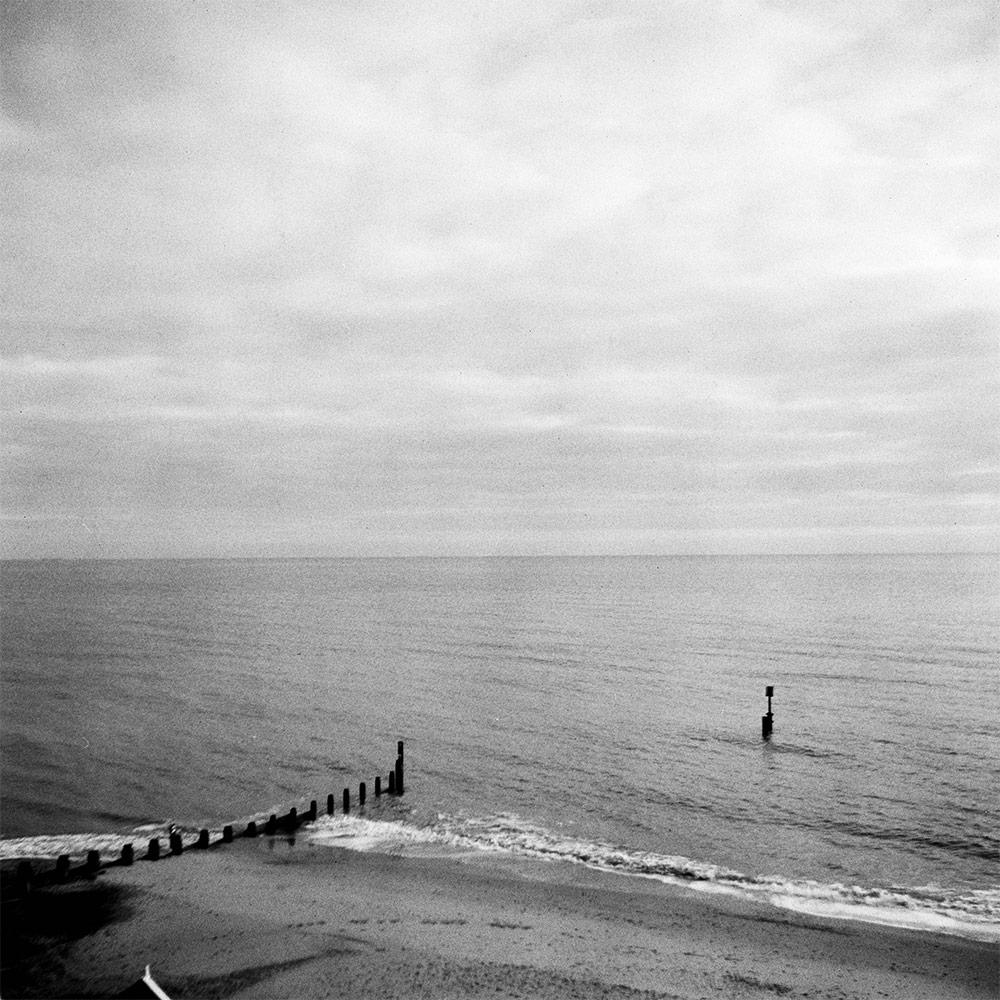 Groynes in sea