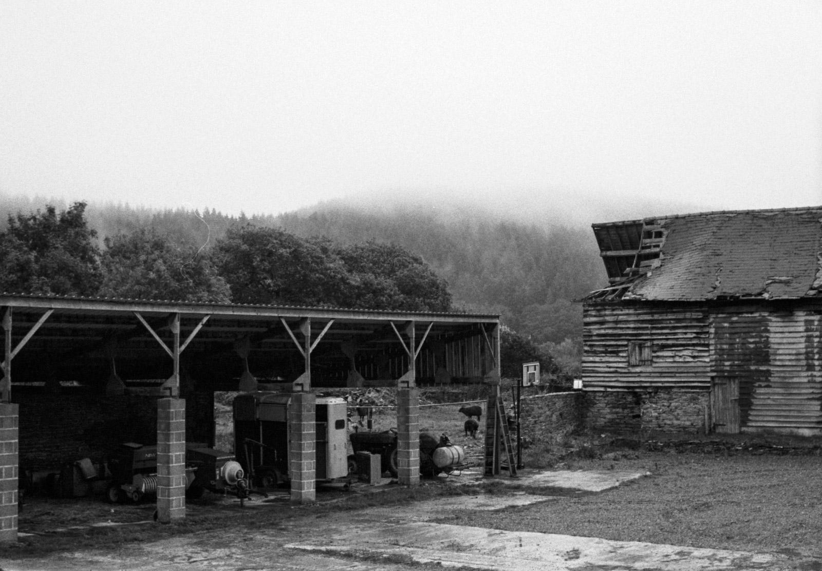 Rickety old barn