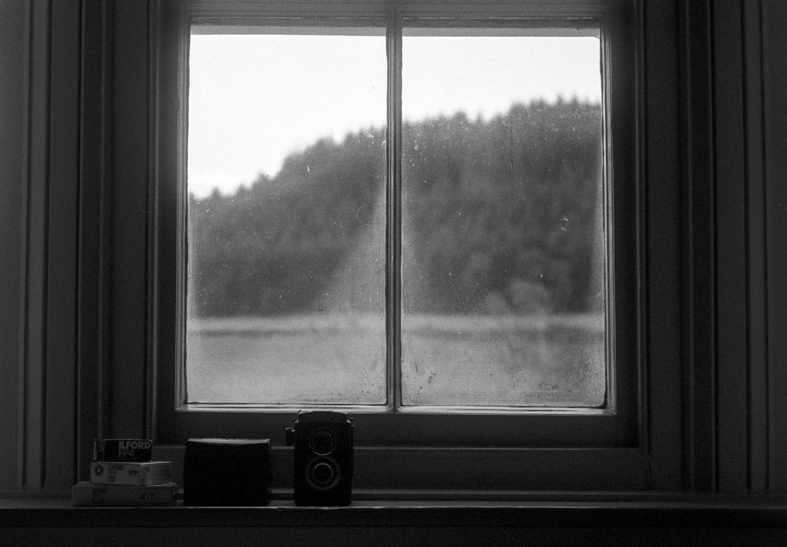 Misty window at Wilde Lodge