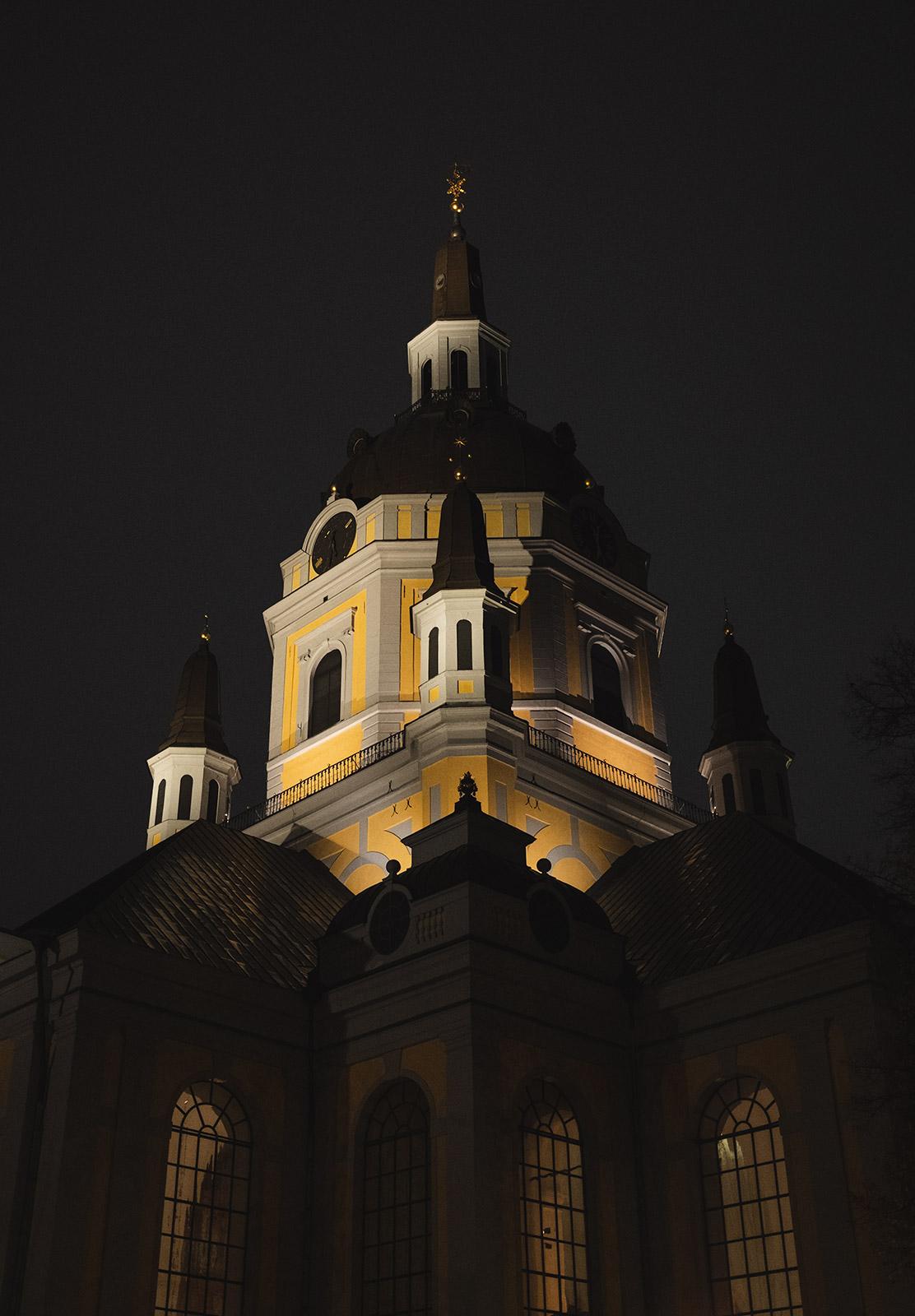 Yellow and grey church