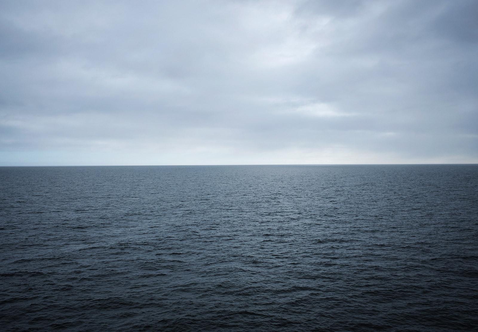 Blue grey sea