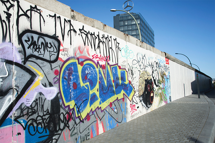 Graffiti on Berlin wall