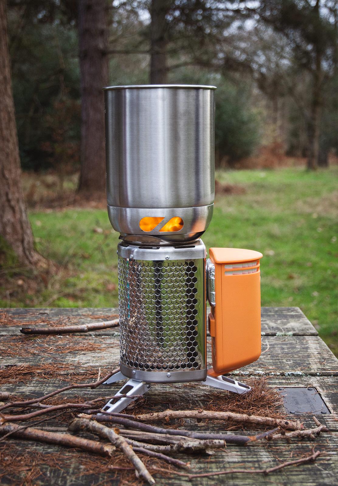 Metal pan on stove