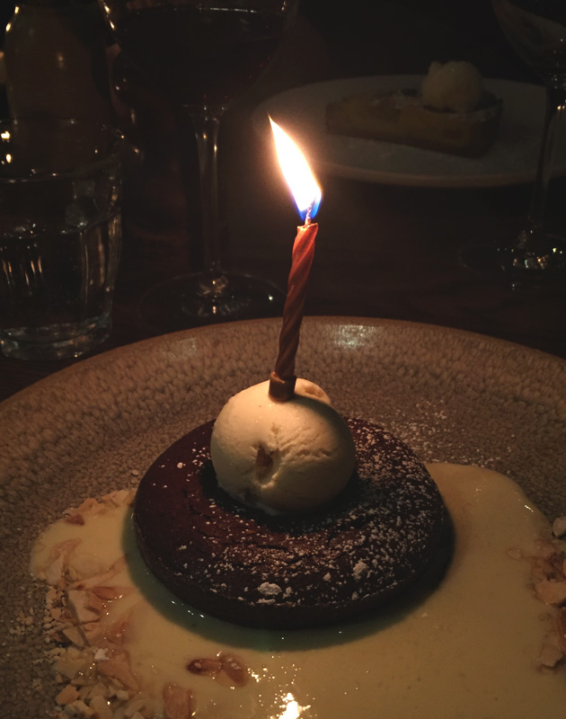 Chocolate cake with candle