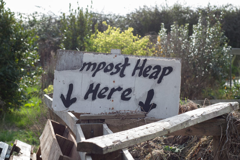 Compost heap sign