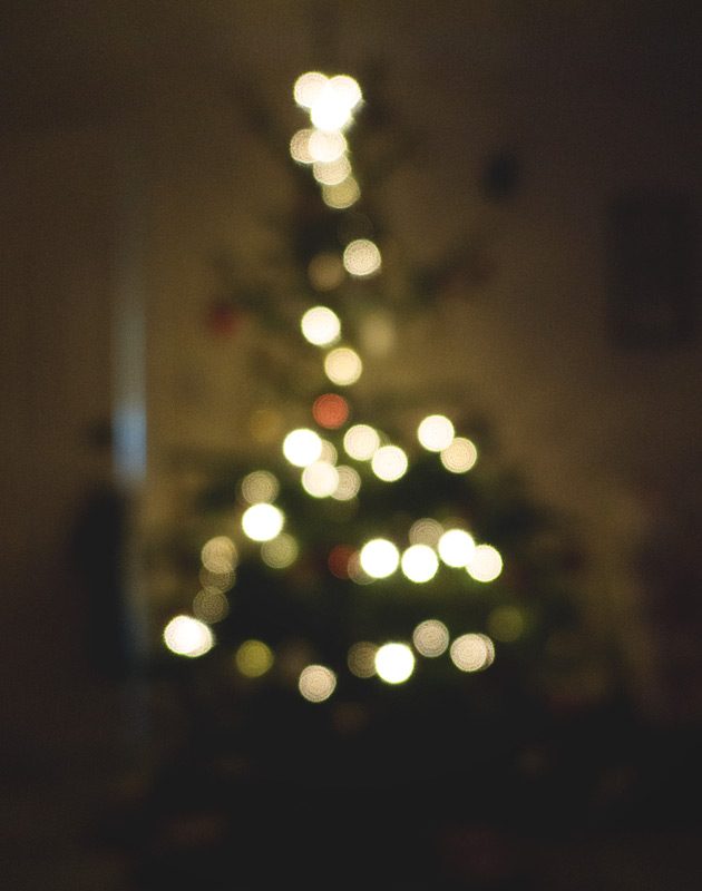 Bokeh Christmas tree lights