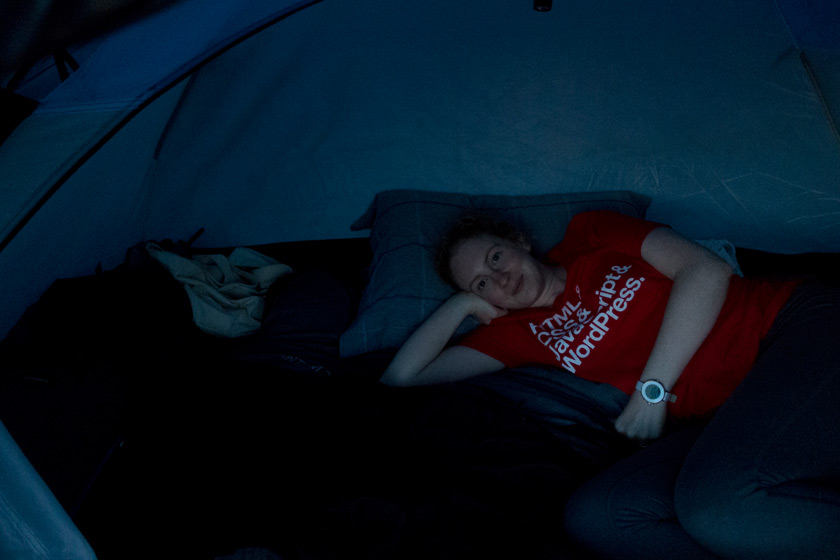 Me in tent