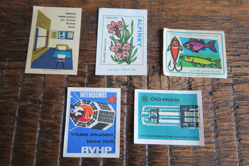 Illustrated matchbox cards
