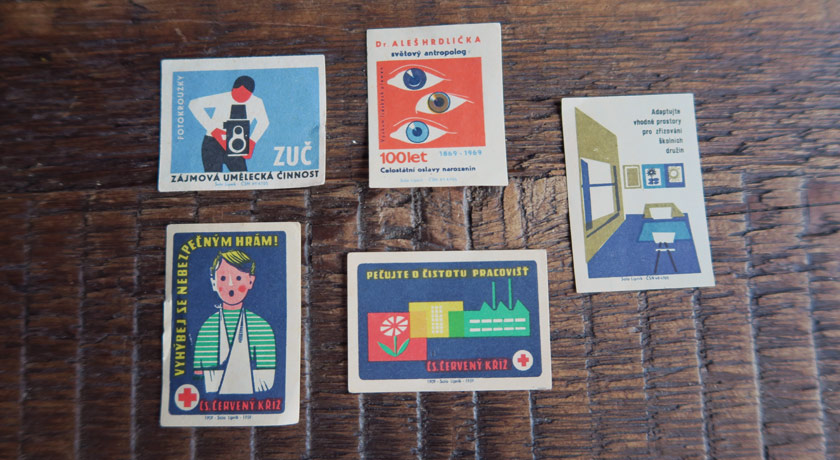 Czech matchbox cards