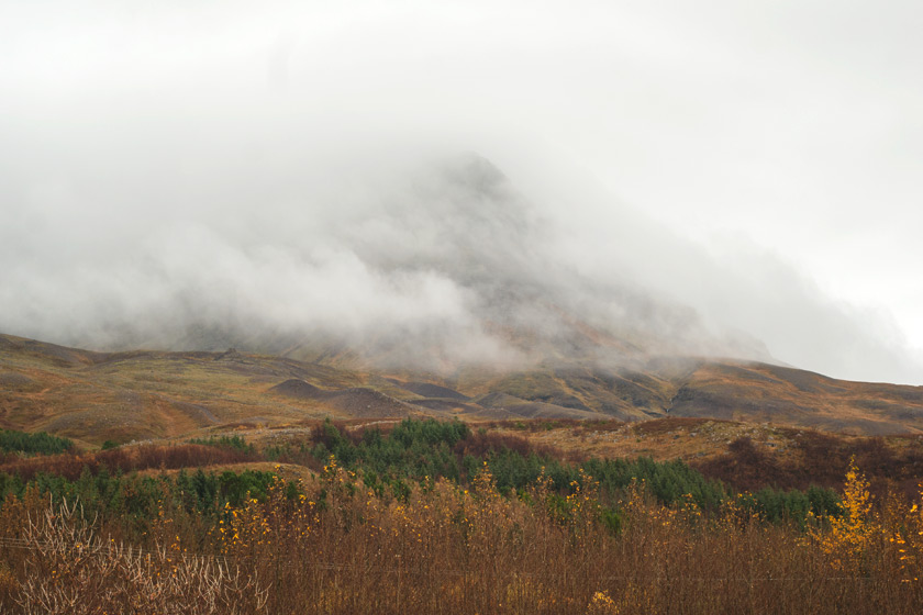 Misty mountain top
