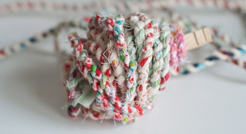 Colourful scrap twine