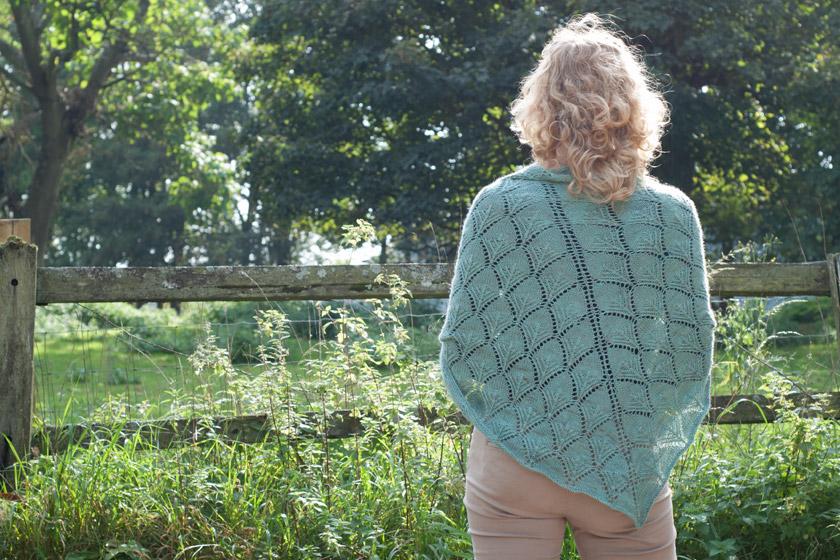 Green lacy shawl