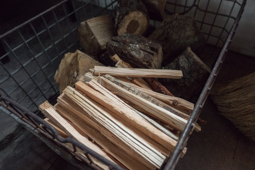 Basket of fire wood