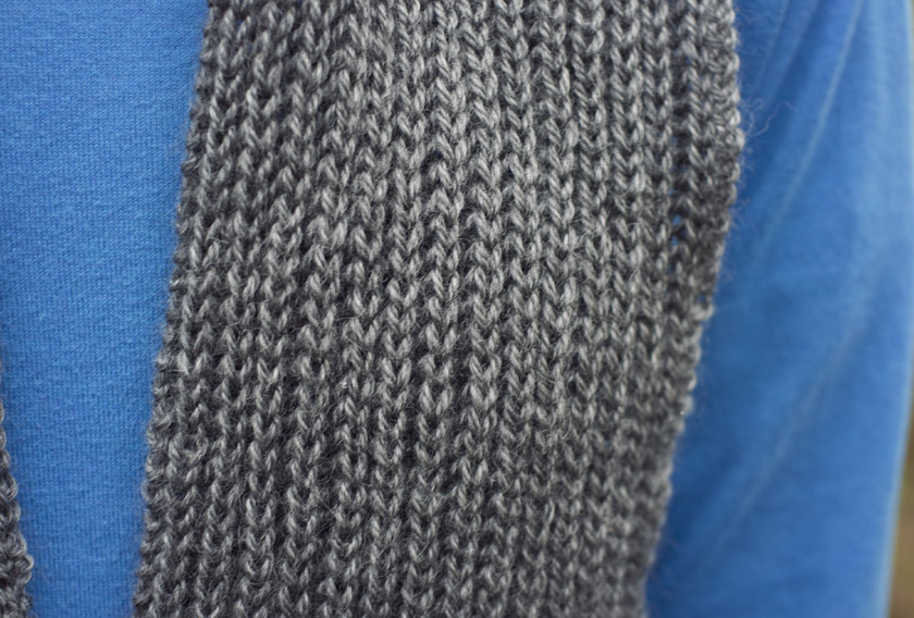 Closeup of rib texture