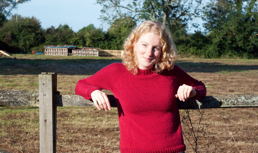 Red Flax pullover