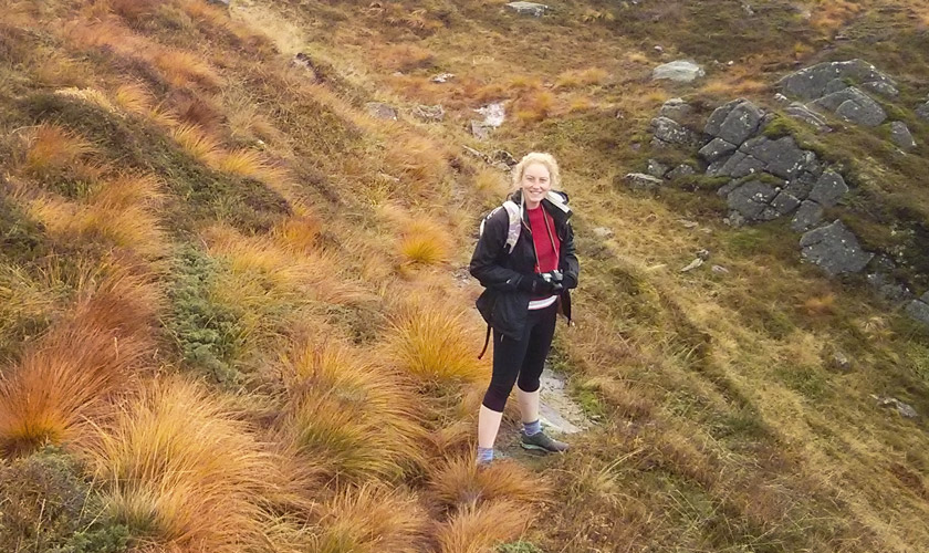 Flax Pullover on a Norwegian mountain