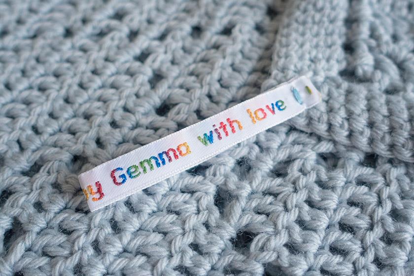 Handmade by Gemma tag