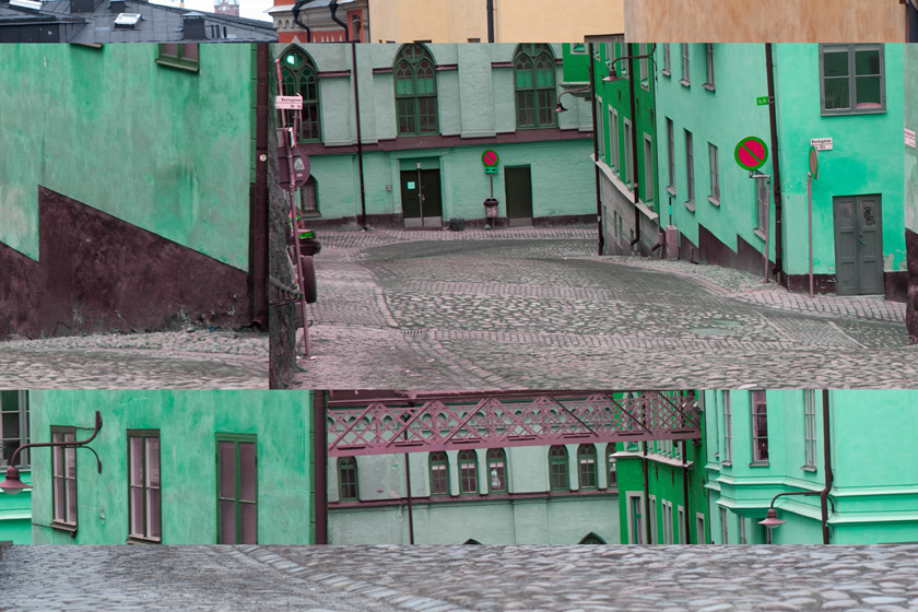 Fragmented street