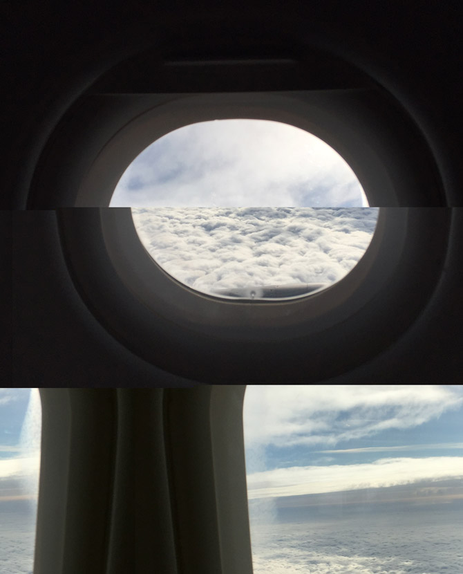 Fragmented plane window