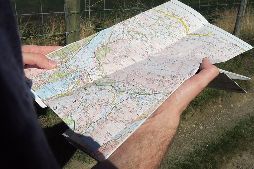 OS map of Keswick