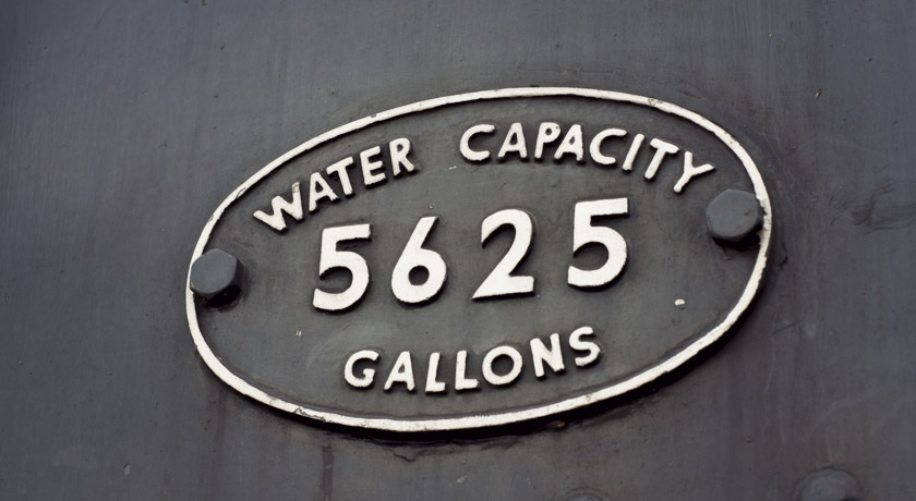 Steam train water capacity