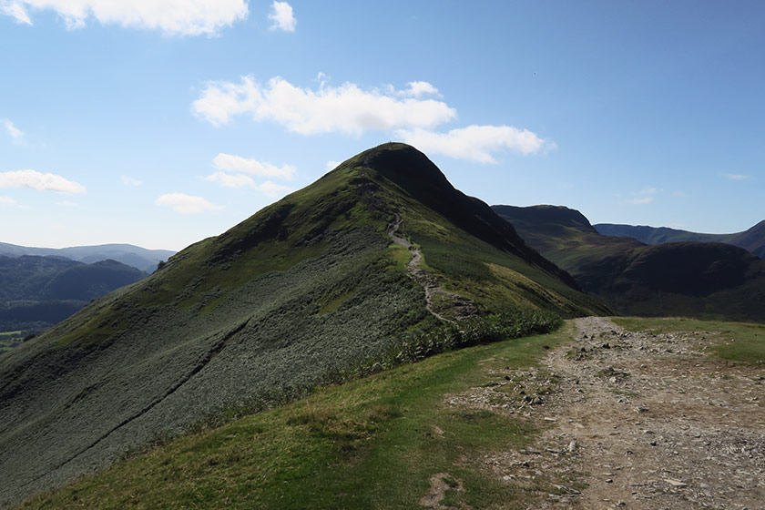 Green fell and trail