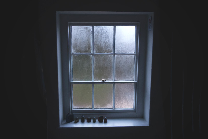 Old misty window