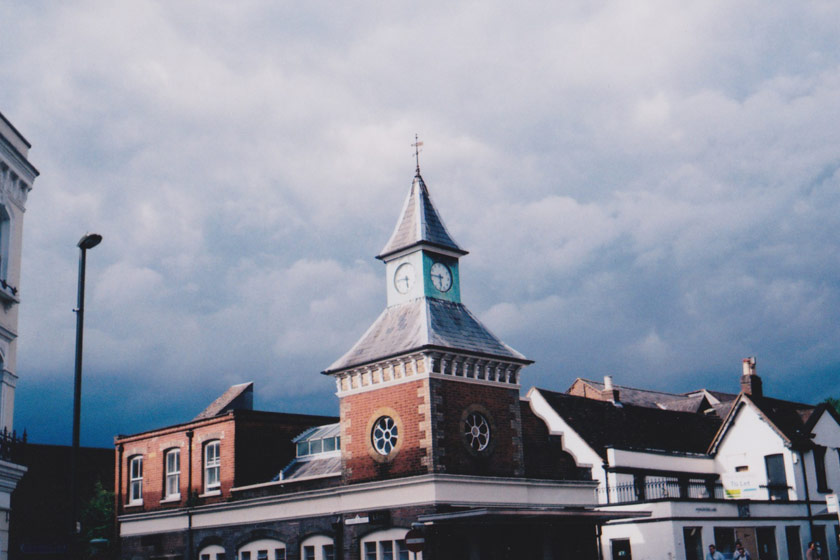 Clocktower with dark clouds
