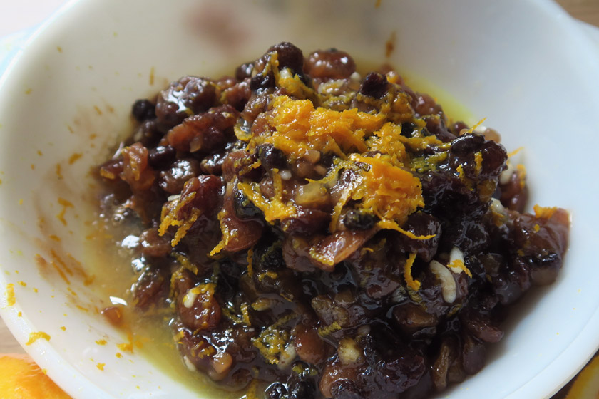 Mincemeat with orange zest