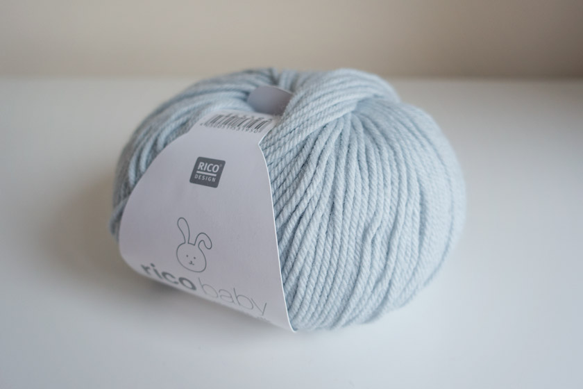 Ball of pale blue wool