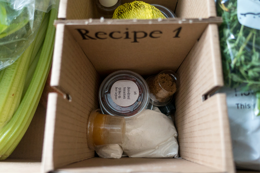 Ingredient pots in box
