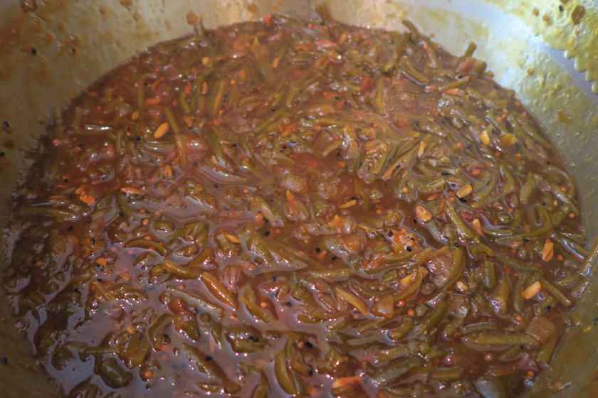 Cooked bean chutney