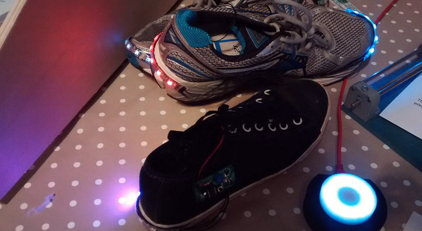 Running shoe lights