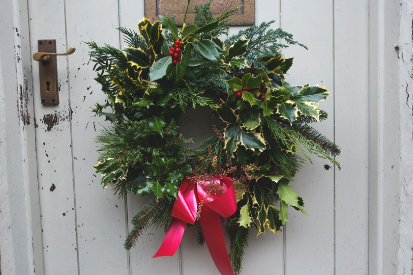 Rustic green wreath