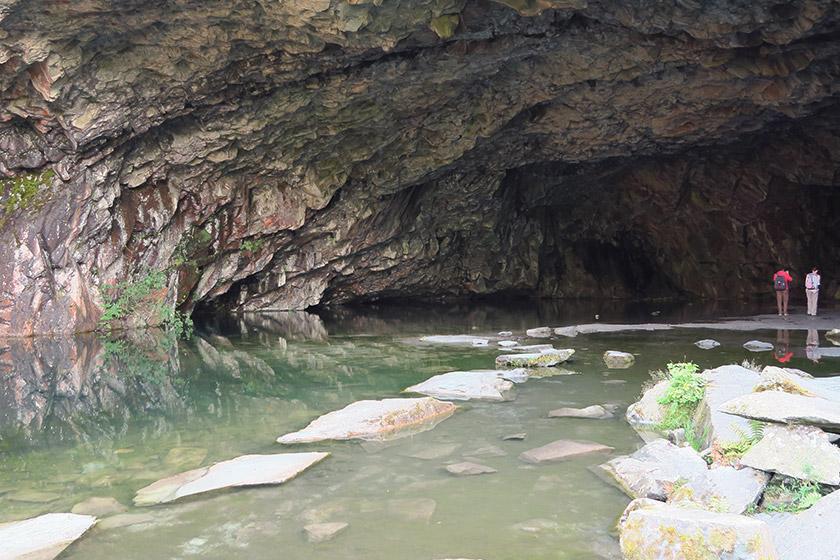 Inside Rydal cave