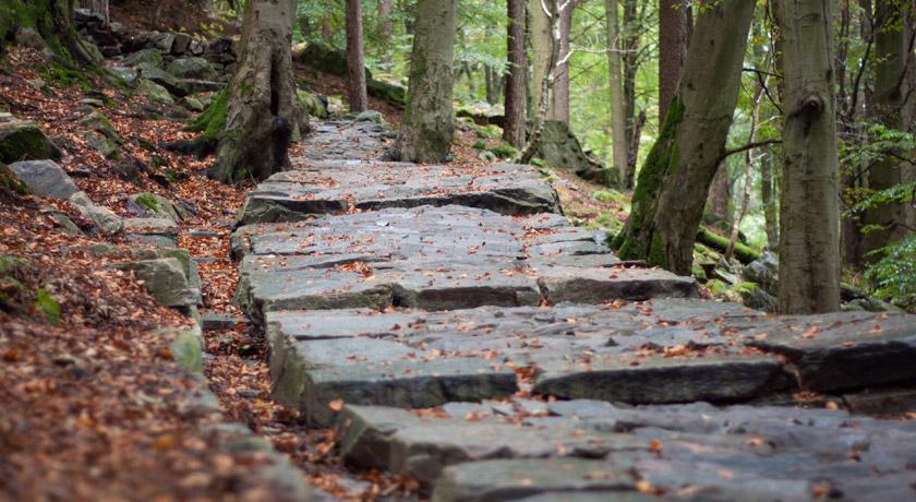 Stones mountain steps