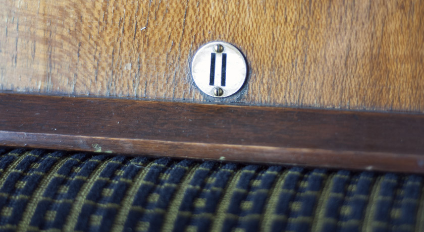 Vintage seat number