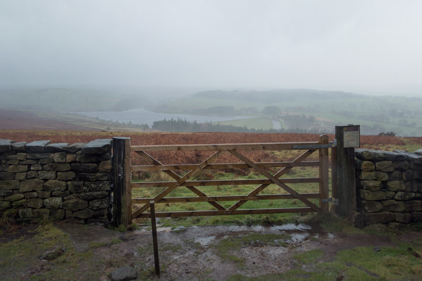 View over country gate