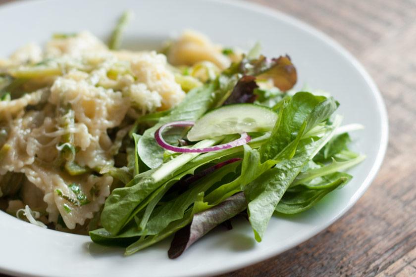Lettuce on plate
