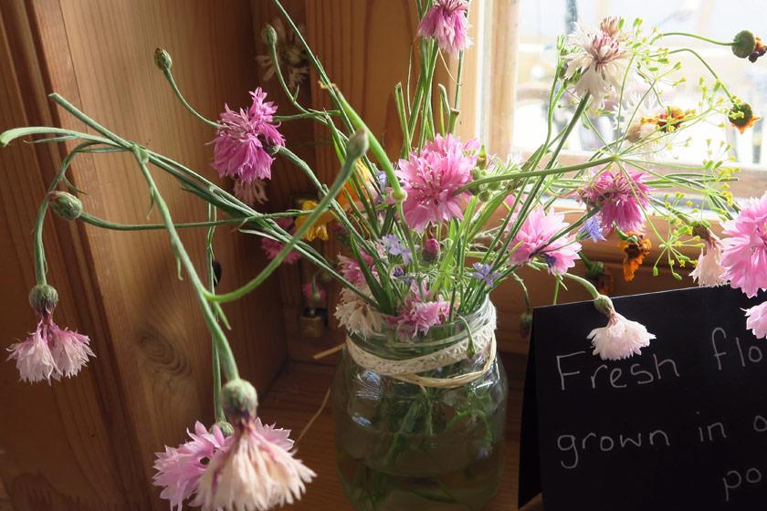 Jar of wild flowers