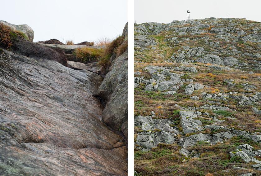 Steep mountain rock face