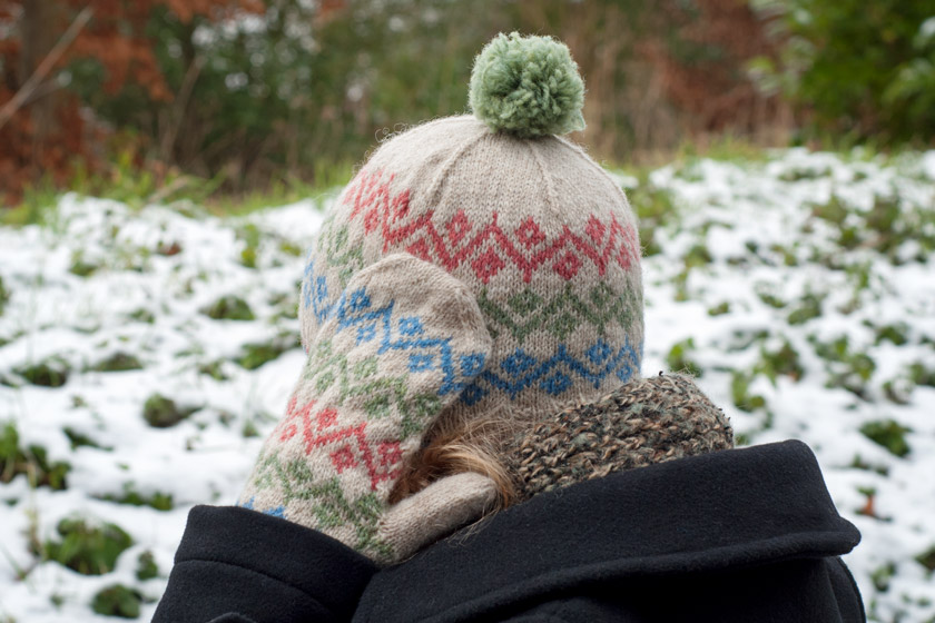 Fair isle mittens and hat