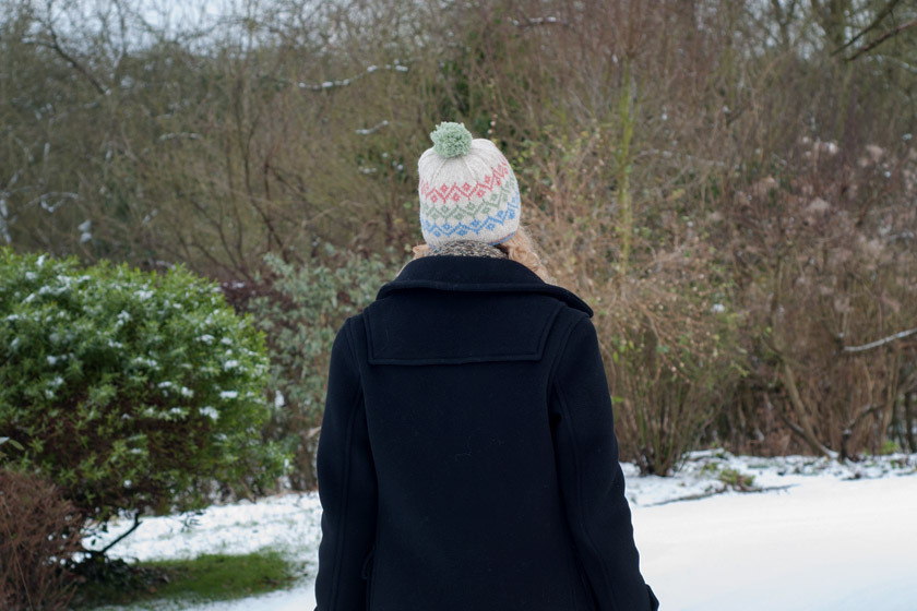 Knitted fair isle hat