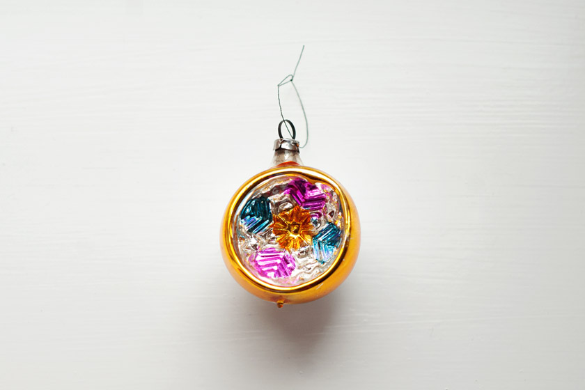 Multicoloured vintage bauble