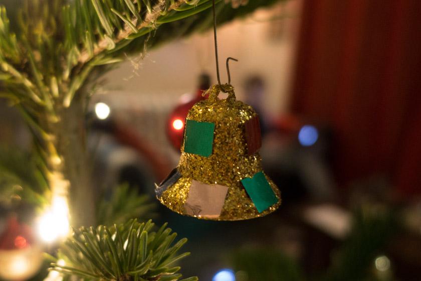 Gold glittery bell