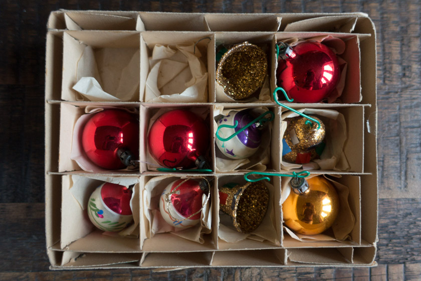 Box of old baubles