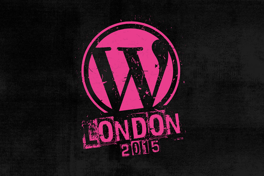 Pink WordCamp London logo