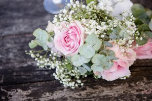 Closeup of wedding flowers