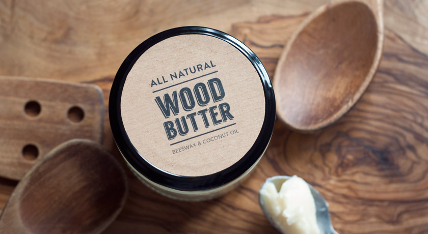 Tin of homemade wood butter