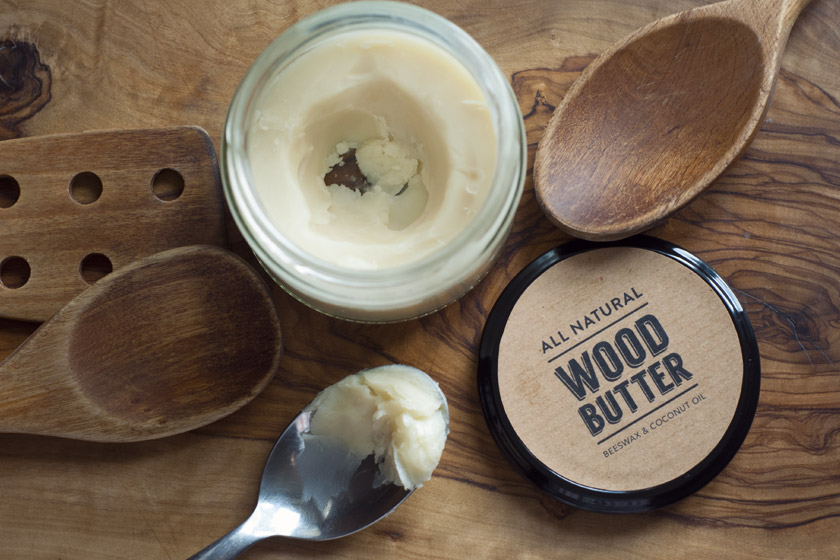 Wood butter on board